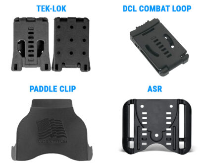 belt attachments for holsters